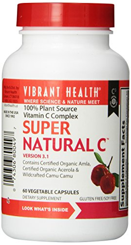 Vibrant Health Super Natural C, 3200 Orac Units Per Serving, 250 Mg Vitamin C Per Serving , Serving Is 2 Vegetablecapsules, 60 Vegetable Capsules Per Bottle