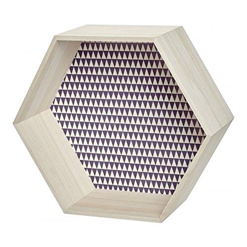 wandregal sechseck holz lila wanddekoration. Black Bedroom Furniture Sets. Home Design Ideas