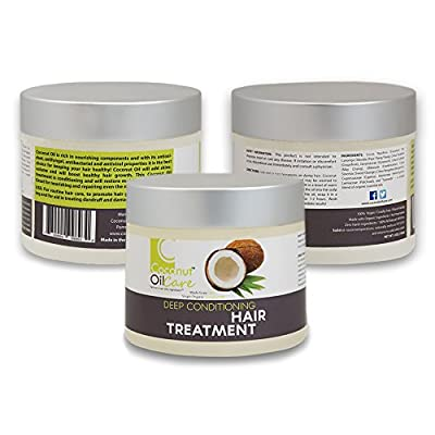 Coconut Oil Care - Deep Conditioning Hair Treatment - Created with 100% Virgin Organic Coconut Oil and Infused with Intensely Effective Essential Oils - 4oz.