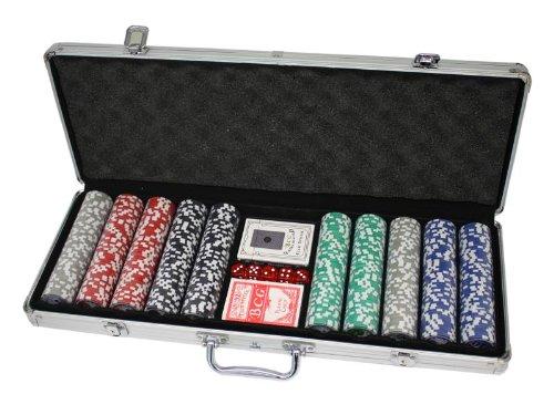 NO NAME Malette de poker en alu + 500 jetons (Jetons non marqués, 11,5g)