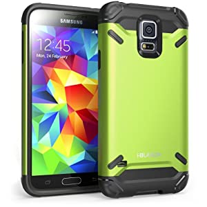 i-Blason Samsung Galaxy S5 Case - Armadillo Series 2 Layer Armored Hybrid Cover with Inner Soft Case and Hard Outter Shell AT&T, Verizon, Sprint, T-Mobile (Galaxy S5, Green)