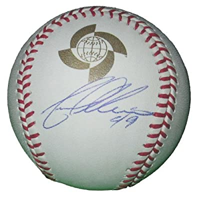 Yovani Gallardo Autographed 2013 World Baseball Classic Official Game Baseball, Texas Rangers, Milwaukee Brewers, Proof Photo