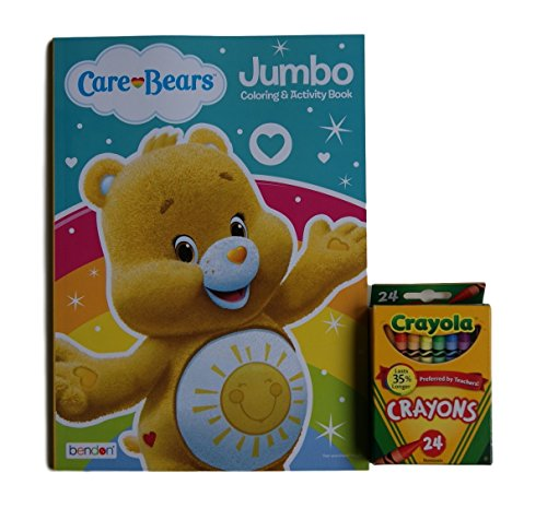 Care Bears ''Funshine Bear'' Jumbo Coloring and Activity Book with Crayola Crayons (Original Care Bears compare prices)