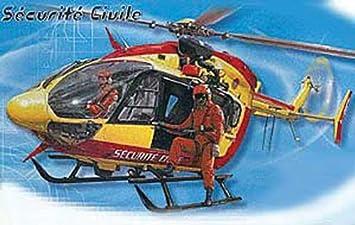 """Heller - 80375 - Construction Et Maquettes - Eurocopter Ec-145 """"Sécurité Civile"""" - Echelle 1/72ème"""