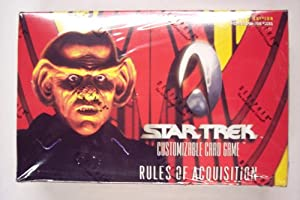 "1999 Star Trek ""Rules of Acquisition"" Card Game Booster Box (30 packs/box, 9 cards/pack)"