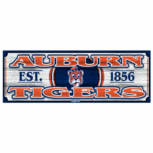 NCAA College Vault Auburn Tigers 9-by-30 Wood Sign at Amazon.com