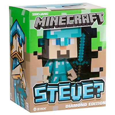 Minecraft Steve Diamond Vinyl Toy 6 Inches Tall W Diamond Sword In Collectors Box from Jinx
