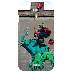 Micromax A117 Canvas Magnus Back Cover - Elephant Ride Designer Cases