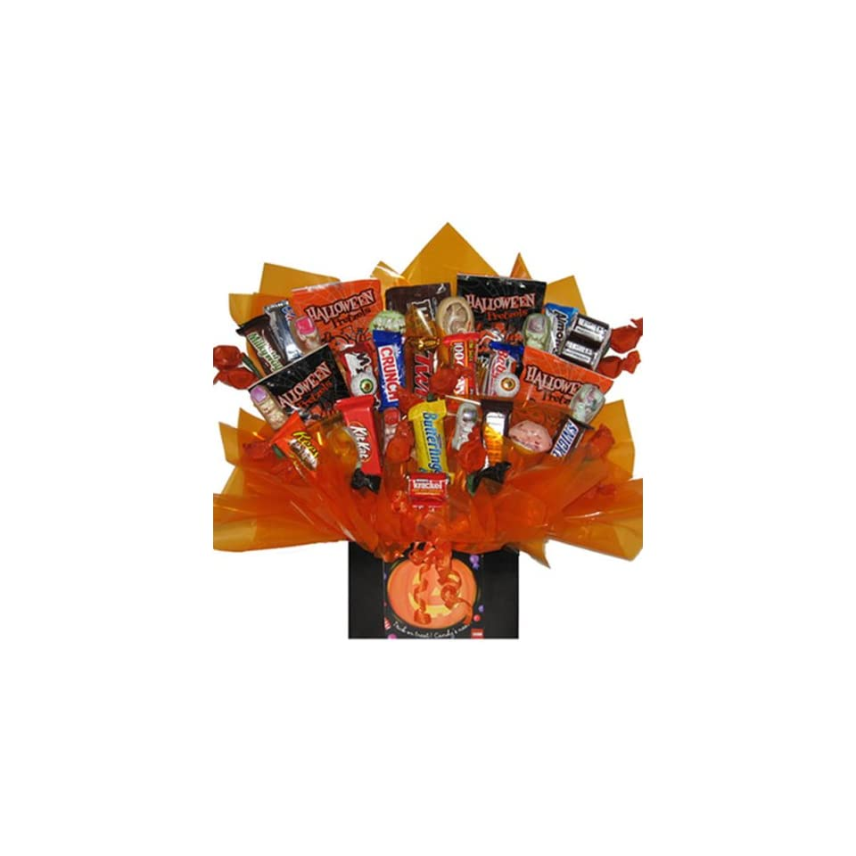Monster Mash Chocolate Candy bouquet in Halloween gift box