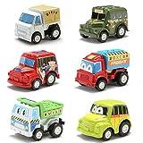 6 PCS New Mini Pull Back Car Model Plastic Educational Toys For Children