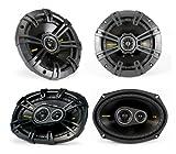 "2) Kicker 40CS654 6.5"" 300W + 2) 40CS6934 6x9"" 450W Car Audio Coaxial Speakers"