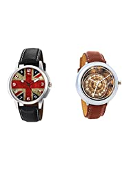 Gledati Men's Multicolor Dial And Foster's Women's Brown Dial Analog Watch Combo_ADCOMB0001895