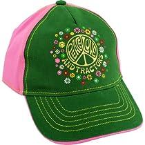 "John Deere ""Peace, Love & Tractors"" Pink Youth Baseball Cap Hat S/M-L/XL (L/XL)"