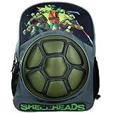 "Teenage Mutant Ninja Turtles Hard Shell Neoprene 16"" Boys TMNT Shellheads School Fullsize Backpack"