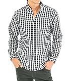(スペイド) SPADE チェックシャツ メンズ 長袖 シャツ Yシャツ ギンガムチェック 【e263】 (M, ホワイト)