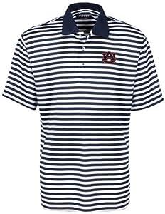 NCAA Auburn Tigers Mens Bar Stripe Golf Polo Shirt by Oxford