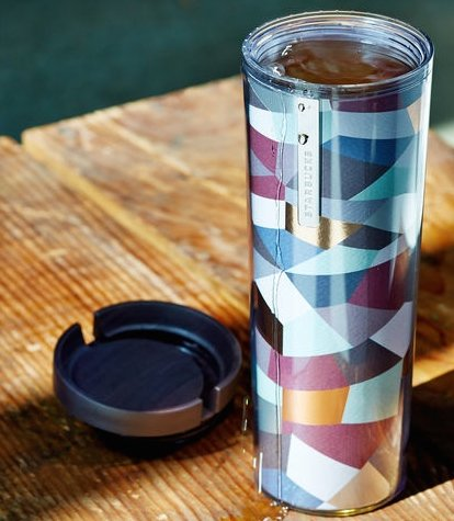 Starbucks Acrylic Mosaic Tumbler with sliding lid. It is unsulated.
