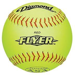 Buy Diamond 12RYSC .44 COR 375 ASA 12-Inch Synthetic Leather Softball (Pack of 12) by Diamond Sports