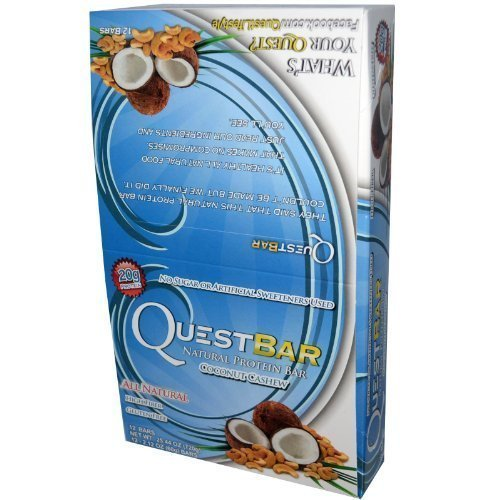 Quest Bars, All Natural Bar, Coconut Cashew, 12 Bars, From Quest Nutrition
