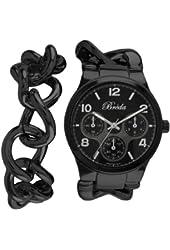 Breda Women's 7224-black .BR Penelope Oversized Chain Band Set Watch