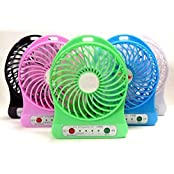 MVE(TM) POWERFULL Portable Wireless Rechargeable Mini Fan With POWER BANK, Light ,USB Charging Port (Multicolor)