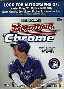 2013 Bowman Chrome Baseball Exclusive Factory Sealed Retail Box with Exclusive X-FRACTOR Refractors