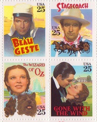 Classic Films Set of 4 x 25 Cent US Postage Stamps NEW Scot 2445-48