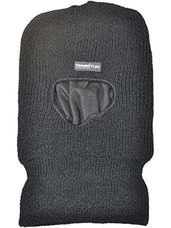2 Pack Mens/Gentlemens Black Flex Thinsulate Open Face Balaclava, One Size