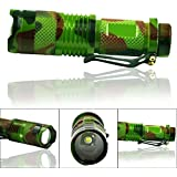 Jieyan Zoomable CREE Q5 LED Focusable Mini Tactical Flashlight Torch Light