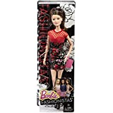 Barbie Fashionistas Raquelle Doll, Flower Print Dress with Red Bodice