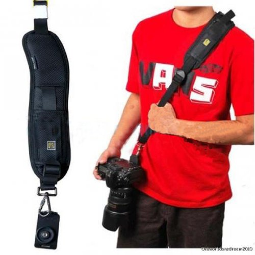Camera Shoulder Sling Black Belt Strap for SLR DSLR (Single Shoulder Strap)