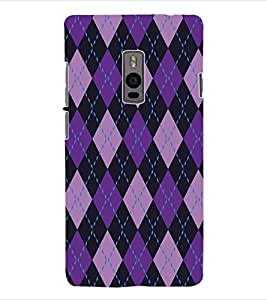 ColourCraft Diamond Pattern Back Case Cover for ONEPLUS TWO