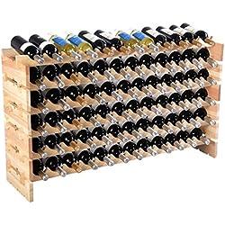 New-72-Bottle-Wood-Wine-Rack-Stackable-Storage-6-Tier-Storage-Display-Shelves
