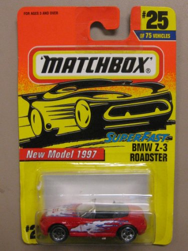 "Matchbox Super Fast Series BMW Z-3 Roadster ""New Model 1997"" #25 of 75 Vehicles - 1"