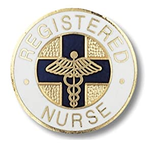 Registered Nurse Round Emblem Pin