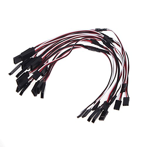 Andoer 10Pcs 300Mm 30Cm Servo Y Extension Lead Wire Cable For Futaba Jr Servo Part