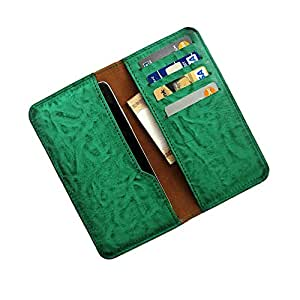 i-KitPit : PU Leather Wallet Flip Pouch Case For Micromax bolt A075 (GREEN)