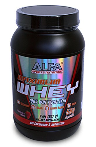 Maximun Whey Strawberry Flavor 2 Lbs 50 G Of Protein
