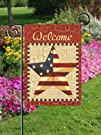 Patriotic Welcome Americana Flag  Garden