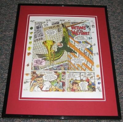 Spiderman #4 1994 Framed Sketch Official Reproduction Victims Of Vultu