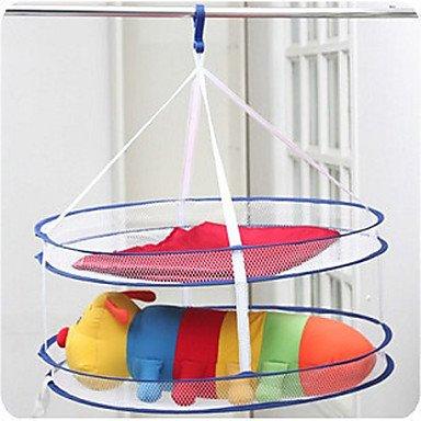 Simple Design Double-Deck Folding Clothes Basket front-121210