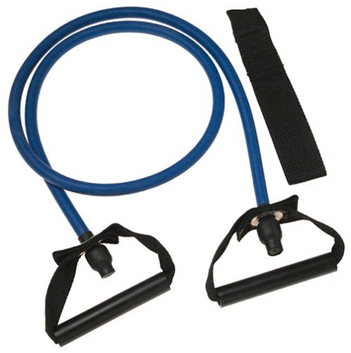 SPRI ES502R Xertube Resistance Band with Door Attachment and Exercise Charts (Blue, Heavy)