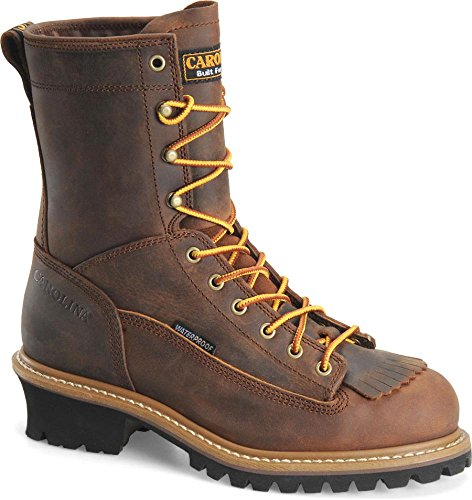 Carolina Men'S Logger Copper Crazy Horse Work 10 2E Us