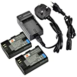 DSTE® 2pcs LP-E6 Rechargeable Li-ion Battery + Charger DC88U for Canon EOS 5D Mark II, EOS 5D Mark III, EOS 6D, EOS 7D, EOS 60D, EOS 60Da, EOS 70D Digital Cameras
