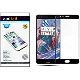 Aadtail OnePlus 3 / One Plus Three / One Plus 3 Tempered Glass (Black)