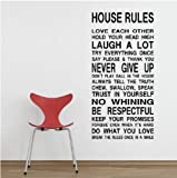 Blansdi Houese Rules Family LOVE EACH OTHER LAUGH A LOT NO WHINING waterproof Removable Home Decor Art Decal wall sticker