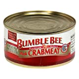 Bumble Bee Crab Meat, Pink, 6 Ounce (Pack of 12)