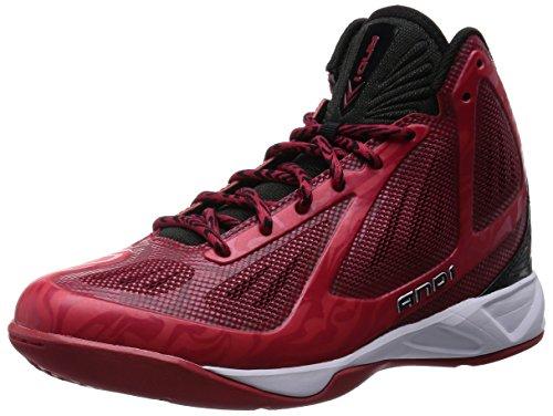 AND1 Men's Xcelerate Mid Sneaker,V-Red/Black/White,US 10.5 M