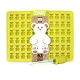 63 Cavity Silicone Gummy Bear Mold with BONUS DROPPER FOR EASY FILLING! Best Gummy Candy Mold, Bear Molds, Gummy Molds, Gummy Bear Maker, Gummy Candy Maker, Chocolate Bear Mold