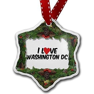 Christmas Ornament I Love Washington DC - Neonblond